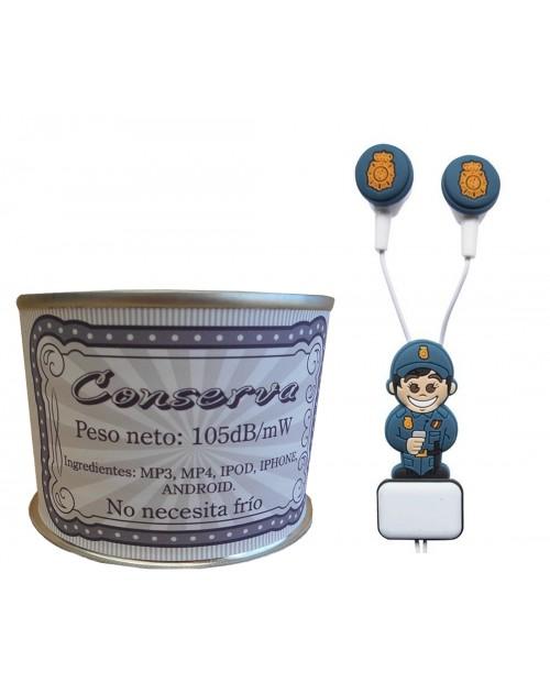 Auricular Policía Nacional chico en lata