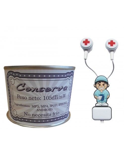 Auricular Enfermero en lata