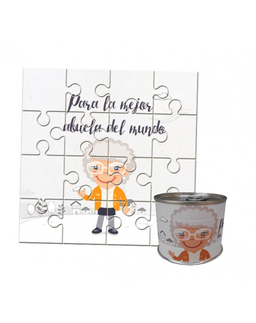 Puzzle para regalo abuela en lata