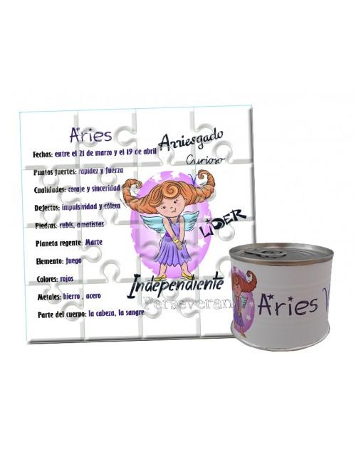 Puzzle horóscopo Aries en lata