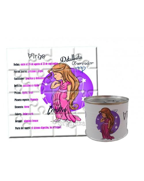 Puzzle horóscopo Virgo en lata