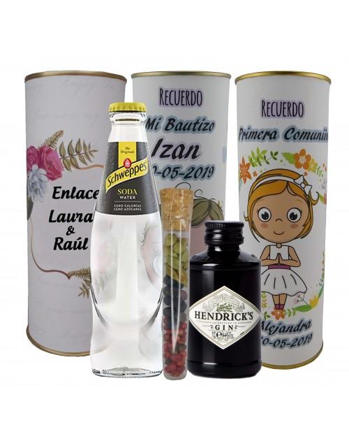 Pack de Gin Tonic Schweppes ORIGINAL con ginebra Hendrick´s en lata PERSONALIZADA